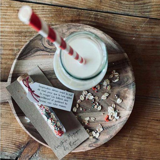 clé magique du père noel nourriture pour les rennes gâteau du père noel bouteille de lait du père noel boule de noel personnalisée