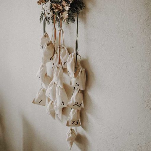 calendrier de l'avant fleurs séchées