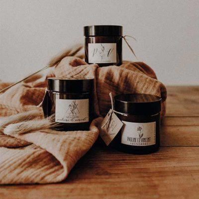 cadeaux d'invites bougie cire soja naturelle