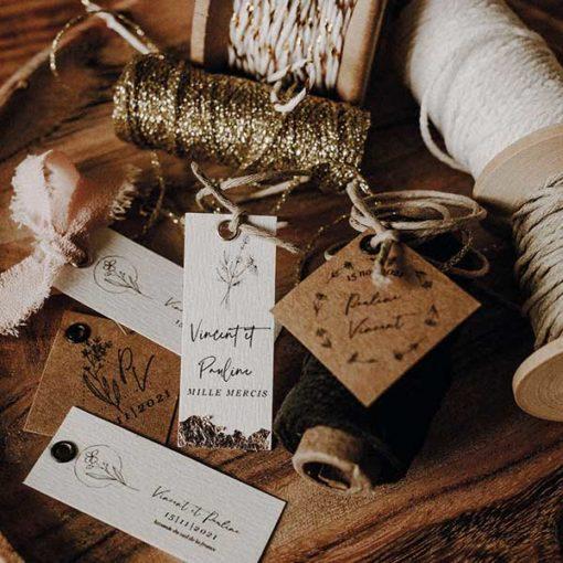étiquette bougie mariage