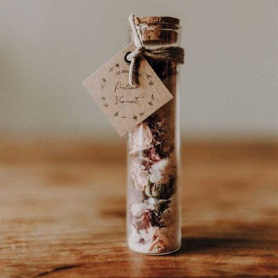 Sel de bain cadeaux invités mariage