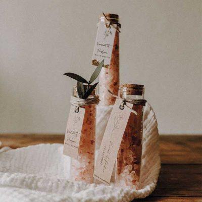Tube à essai sel rose mariage bapteme cadeau invites