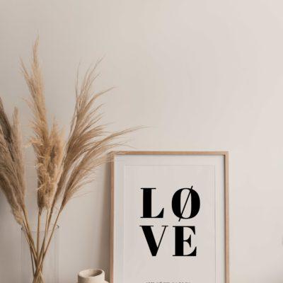 Affiche saint valentin personnalisée