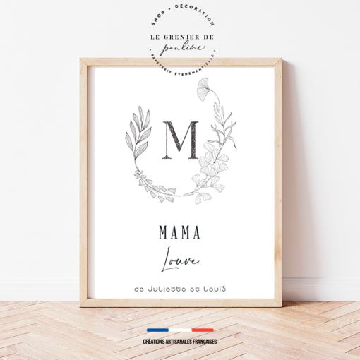 Affiche personnalisée pour maman