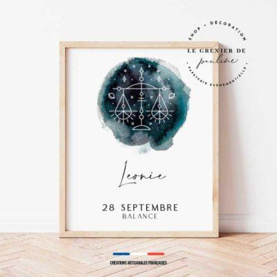 affiche personnalisée ciel étoilé zodiaque