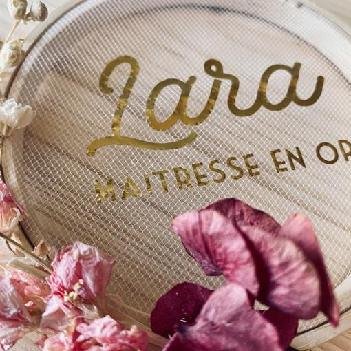 carte fleurs séchées personnalisée maitresse fin d'année